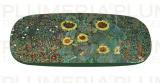 Pouzdro na brýle s utěrkou Garden with Sunflowers - Zahrada Gustav Klimt