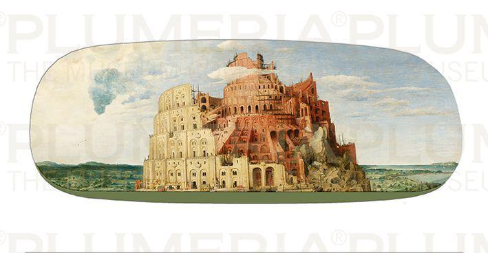 Plumeria Pouzdro na brýle s utěrkou Tower of Babel Pieter Bruegel the Elder