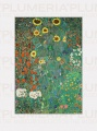 Reprodukce obrazu Garden with Sunflowers - Zahrada Gustav Klimt