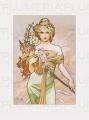 Reprodukce obrazu The Seasons: Spring Alfons Mucha