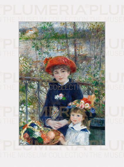Plumeria Reprodukce obrazu Two Sisters on the Terrace Pierre-Auguste Renoir