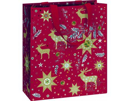 Dárková taška Kalina red FSC 18 x 8 x 21 cm Stewo