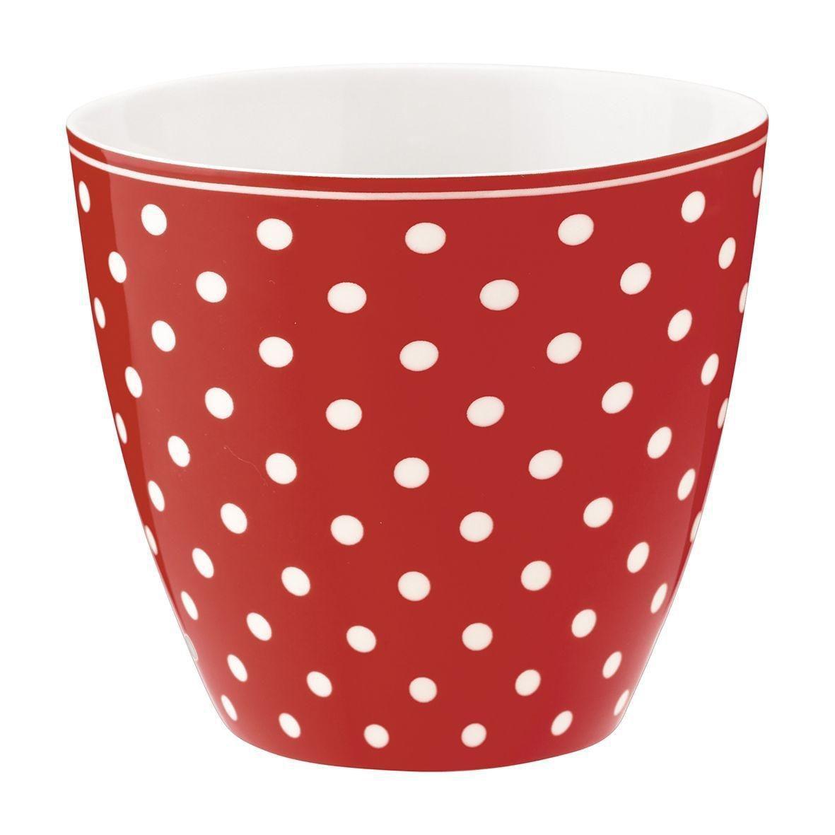 Green Gate Latte cup Spot Red 350ml