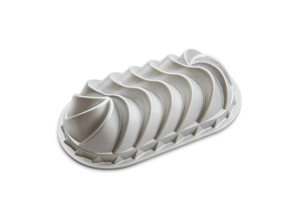 Nordic Ware Forma na biskupský chlebíček Heritage, stříbrná