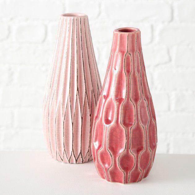 Boltze Kameninová váza Lenja, Ø 10 cm, výška 24 cm