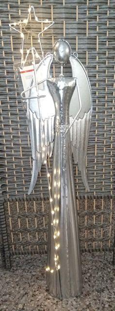 BOLTZE Plechový Anděl 100cm s LED osvětlením