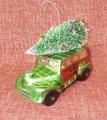 Exner Vánoční ozdoba autičko se stromečkem green 11 x 8 x 5 cm