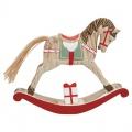 Dřevěný houpací koník Red L