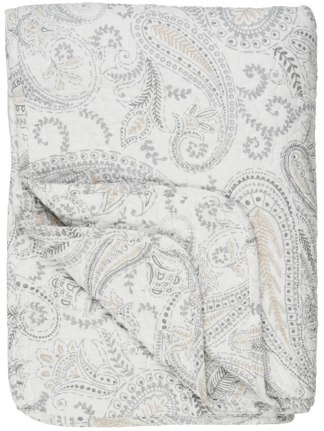 IB LAURSEN Prošívná deka Beige Paisley 130 x 180 cm