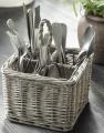 Proutěný košík Cutlery Basket Grey Willow