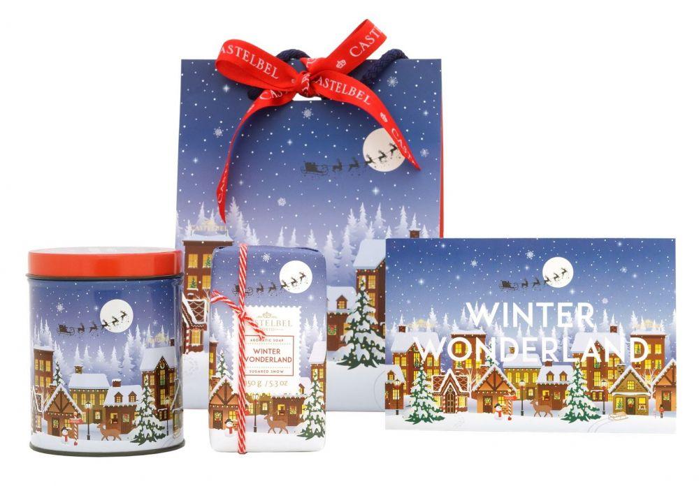 Castelbel Vánoční dárkové balení - Winter Wonderland (svíčka, mýdlo)