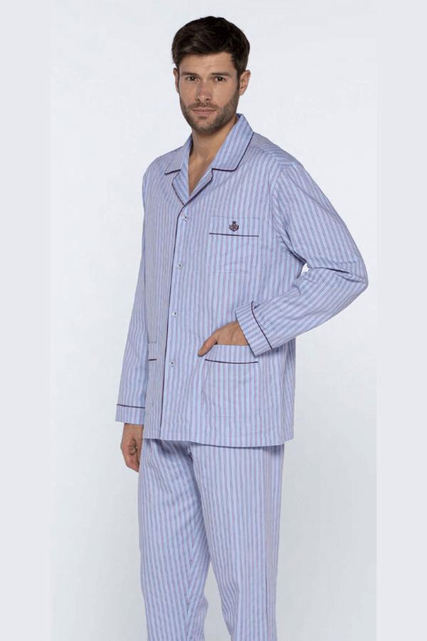 Guasch Luxusní pánské bavlněné pyžamo MATTEO