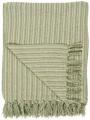 Bavlněný přehoz Cream Green Stripe 130 × 160 cm