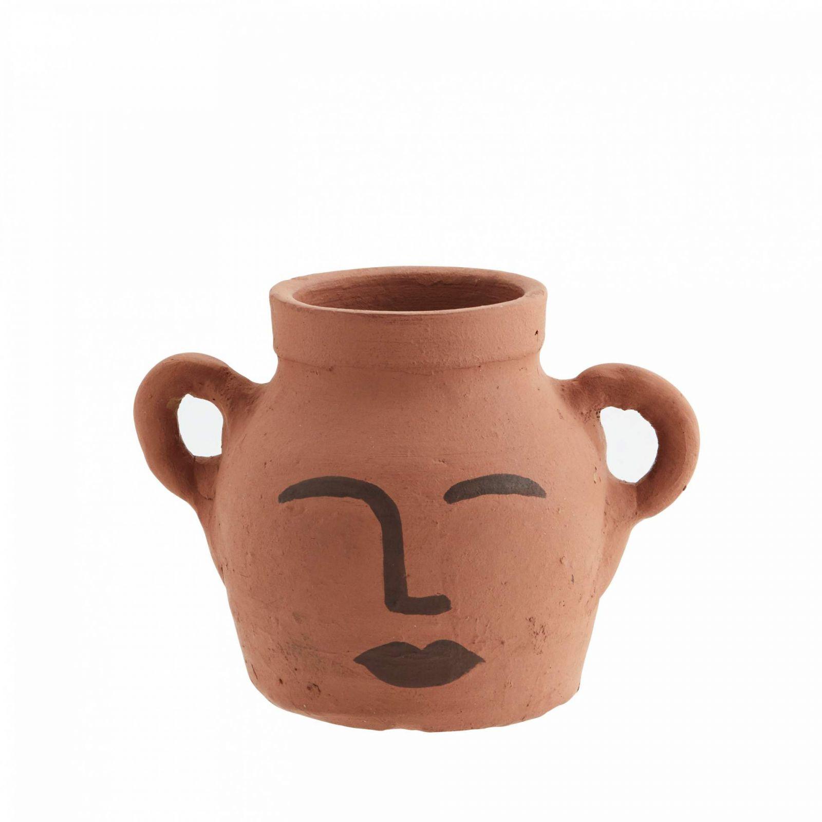 IB LAURSEN Keramická váza Clay Face, 19 cm