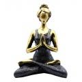 YOGA LADY MEDITATION - bronzová & černá