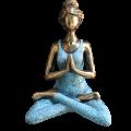 YOGA LADY MEDITATION - bronzová & tyrkysová