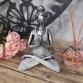 kopie YOGA LADY MEDITATION - stříbrná & bílá