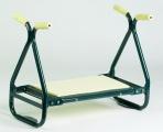 Kovová zahradní stolička na pletí 2 v 1
