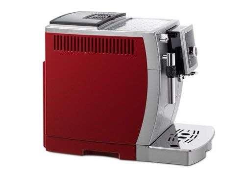 DeLonghi ECAM 23.420.SB - automatické espresso se zabudovaným mlýnkem stříbrno-červená