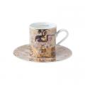 Šálek a podšálek espresso 6 cm / 0,1 l, Polibek, G. Klimt