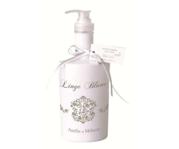 Amélie et Mélanie - Linge Blanc - Tekuté mýdlo s pumpičkou 300 ml Lothantique
