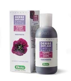 Derbe Anti-age šampon na šedé nebo bílé vlasy s výtažkem z netíku a slézu 250 ml