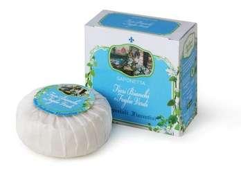 Mýdlo s vůní bílých květů a zelených lístků 100 g Derbe