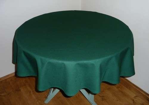 Ubrus kulatý zelený 100% bavlna průměr 140 cm