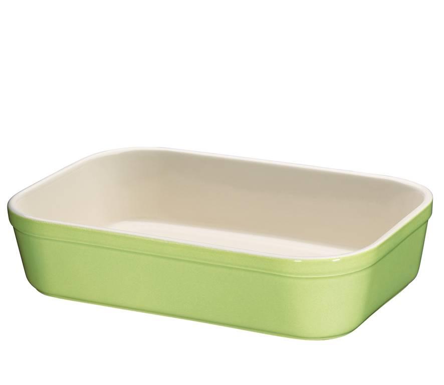 Zápékací miska hranatá Zelená