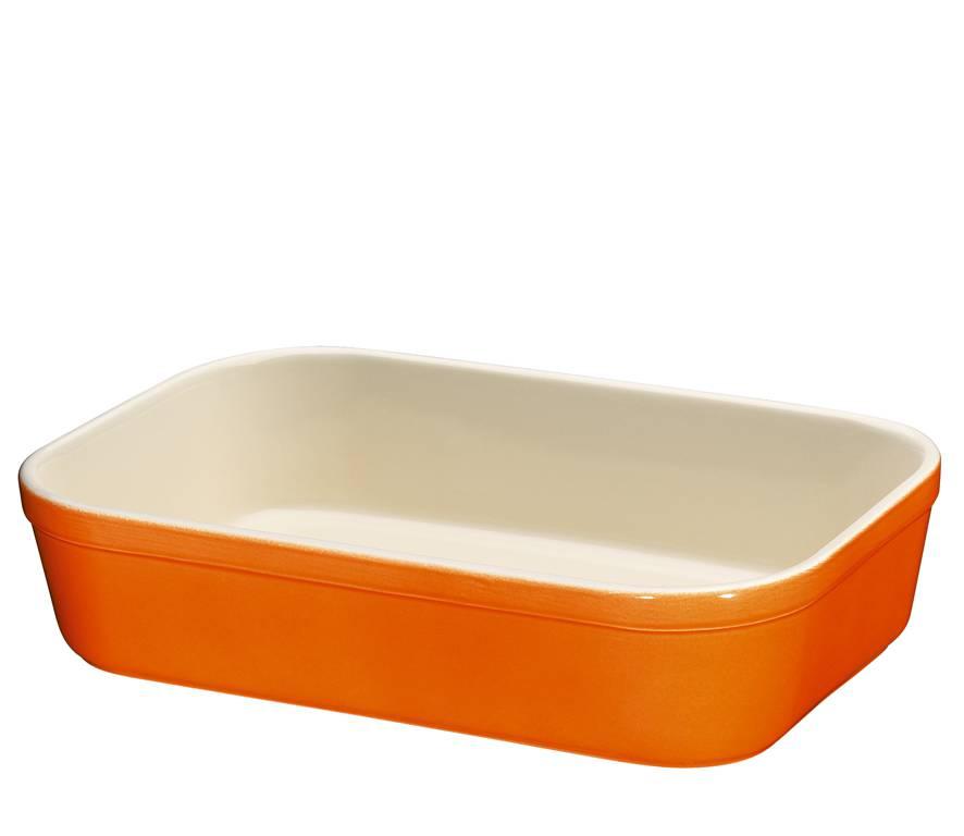 Zápékací miska hranatá Oranžová