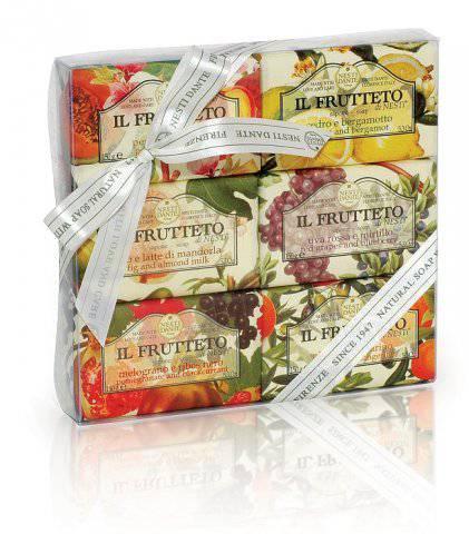Luxusní dárková kazeta mýdel z Florencie - Il Frutteto - Nesti Dante