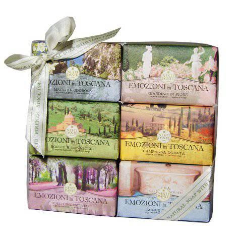 Luxusní dárková kazeta mýdel - Toscana - Nesti Dante 6 ks