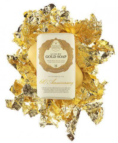 Nesti Dante Luxusní Zlaté mýdlo - 0,01g 24 karátového zlata 250g