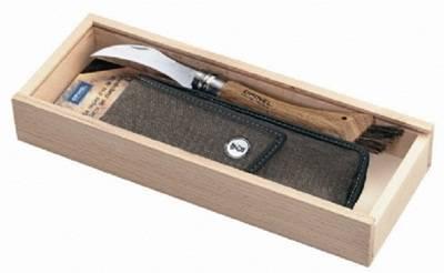 OPINEL Houbařský nůž s koženým pouzdren v dárkové kazetě