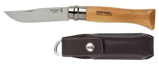 OPINEL Nůž VRN 8 s koženým pouzdrem